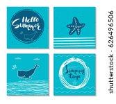 set of 4  beautiful summer...   Shutterstock .eps vector #626496506
