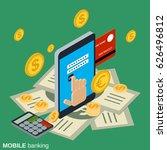mobile money transfer  payment  ... | Shutterstock .eps vector #626496812