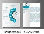 resume and cover letter... | Shutterstock .eps vector #626496986