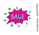 sale comic text speech. promo... | Shutterstock .eps vector #626497955
