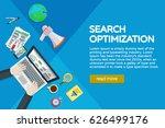 website development  search...   Shutterstock .eps vector #626499176