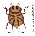 funny beetle cartoon vector... | Shutterstock .eps vector #626502926