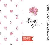 romantic greeting card for... | Shutterstock .eps vector #626505086