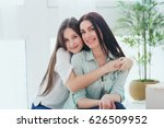 beautiful mother and her pretty ... | Shutterstock . vector #626509952