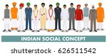 social concept. group indian... | Shutterstock .eps vector #626511542