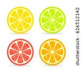 citrus fruit slice vector icon... | Shutterstock .eps vector #626512142