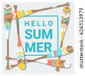 hello summer background with... | Shutterstock .eps vector #626513975