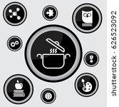 web line icon. pan  saucepan | Shutterstock .eps vector #626523092