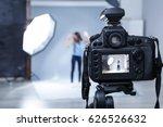 professional camera in studio ... | Shutterstock . vector #626526632