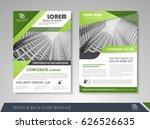 green annual report brochure...   Shutterstock .eps vector #626526635