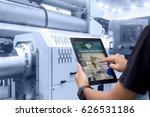 smart industry control concept... | Shutterstock . vector #626531186