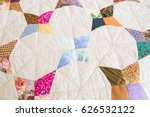 Part Of Color Patchwork Quilt...