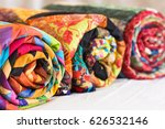 Three Colored Patchwork Quilts...