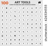 art tools icons for web and... | Shutterstock .eps vector #626534555