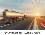 new tanker truck driving fast... | Shutterstock . vector #626537096