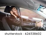 a young man scared screaming at ... | Shutterstock . vector #626538602