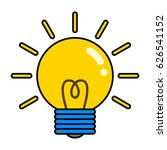 vector illustration. light bulb ...