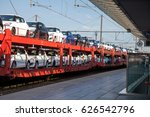 a car transporter comes... | Shutterstock . vector #626542796