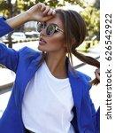 fashion portrait accessories... | Shutterstock . vector #626542922