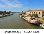 aigues mortes in camargue ... | Shutterstock . vector #626544326