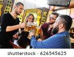 laughing friends communicate... | Shutterstock . vector #626545625