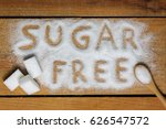 a sugar free word with... | Shutterstock . vector #626547572