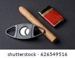 cigar  lighter and   cigar...   Shutterstock . vector #626549516