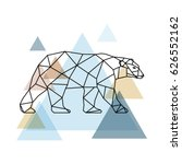 abstract geometric bear.... | Shutterstock .eps vector #626552162