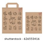 image of package with food and... | Shutterstock .eps vector #626553416