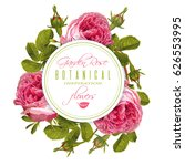 vector botanical round banner... | Shutterstock .eps vector #626553995