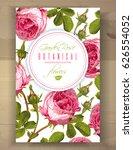 vector botanical vertical... | Shutterstock .eps vector #626554052