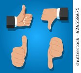 thumb up. hands. vector.... | Shutterstock .eps vector #626558675