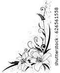 vector background with flowers... | Shutterstock .eps vector #626561558
