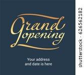 grand opening vector banner.... | Shutterstock .eps vector #626562182