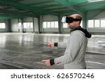 architect with vr visor... | Shutterstock . vector #626570246