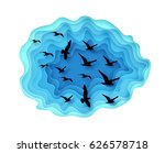 paper cut illustration with... | Shutterstock .eps vector #626578718