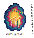 happy birthday background....   Shutterstock .eps vector #626579198
