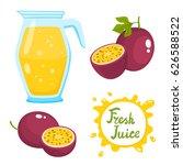 vector set of natural fresh... | Shutterstock .eps vector #626588522