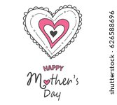 happy mother's day card   Shutterstock .eps vector #626588696