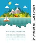 blank for text. summer morning... | Shutterstock .eps vector #626589095