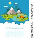 blank for text. summer morning... | Shutterstock .eps vector #626589122