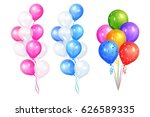 Bunches Of Colorful Helium...