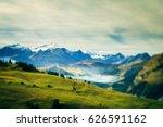 alpine landscape | Shutterstock . vector #626591162
