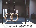 gymnastic rings in fitness gym   Shutterstock . vector #626598962