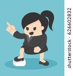 business woman pointing with... | Shutterstock .eps vector #626602832