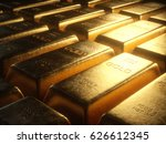 3d illustration. gold bars 1000 ... | Shutterstock . vector #626612345