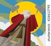 moses with commandments tables... | Shutterstock .eps vector #626612795