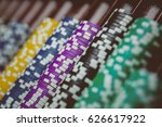 casino chips are colorful game... | Shutterstock . vector #626617922