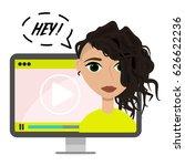 vector flat blogger...   Shutterstock .eps vector #626622236