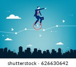 businessman balancing on... | Shutterstock .eps vector #626630642